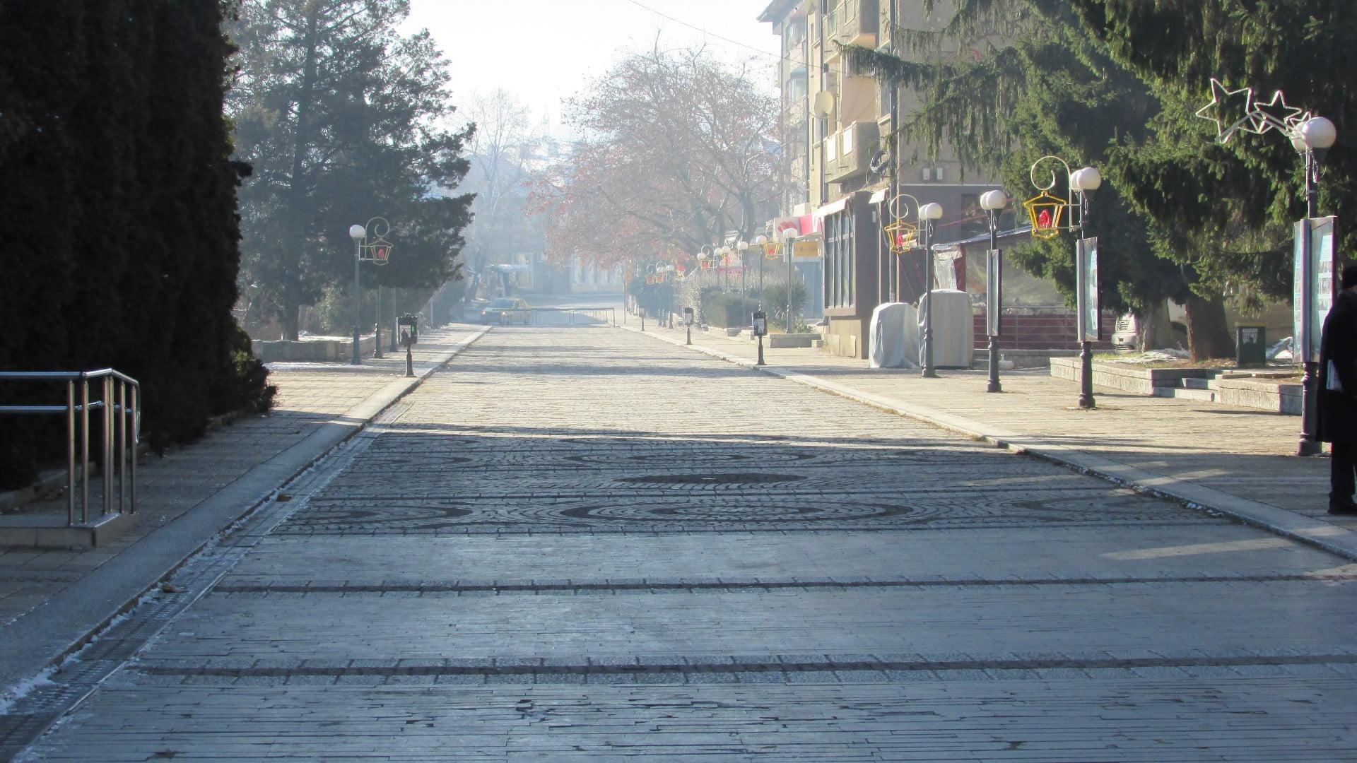 Троян - 01.01.2015год. Пешеходна зона.