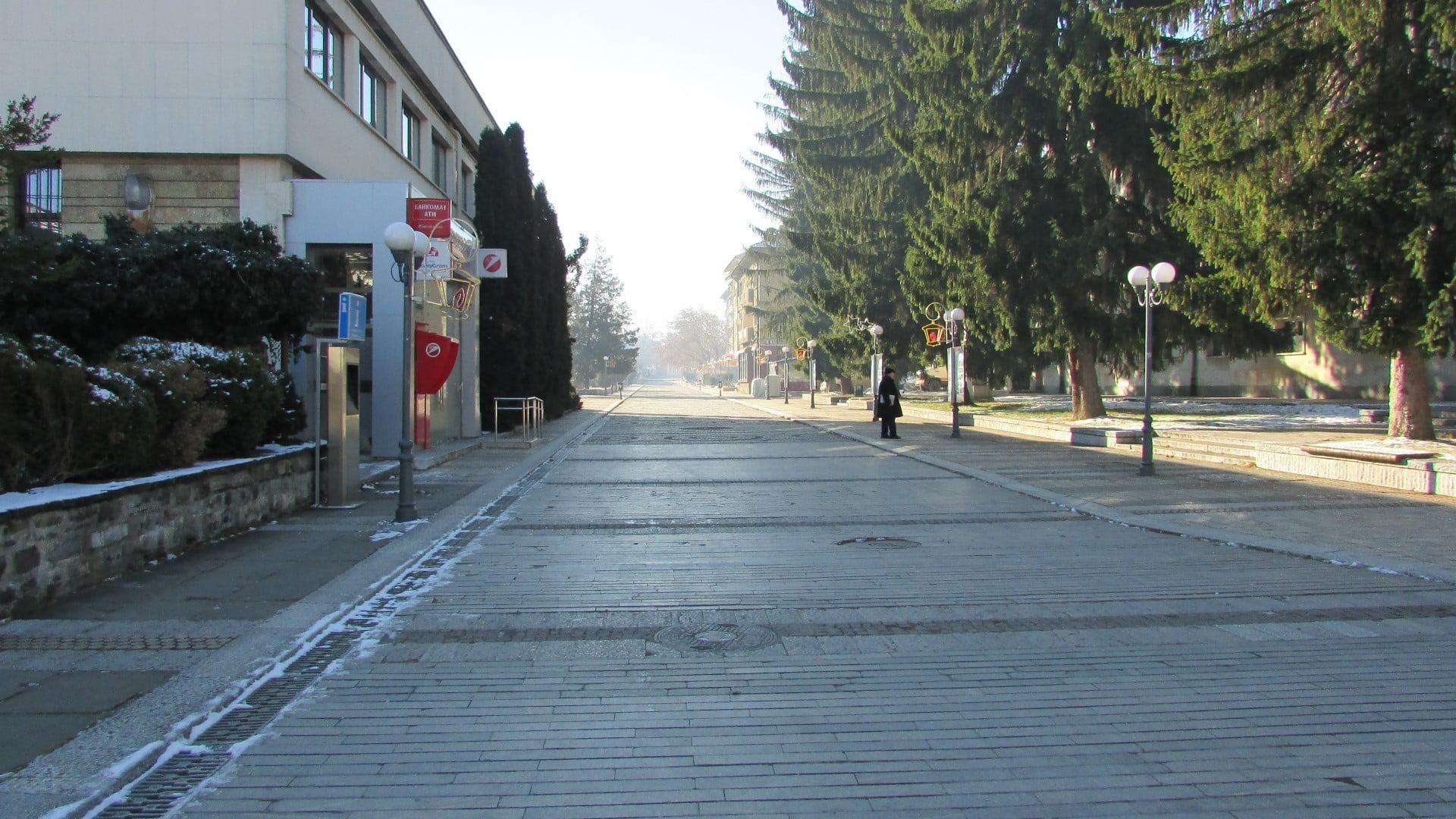 Троян - 01.01.2015год. Главна улица.